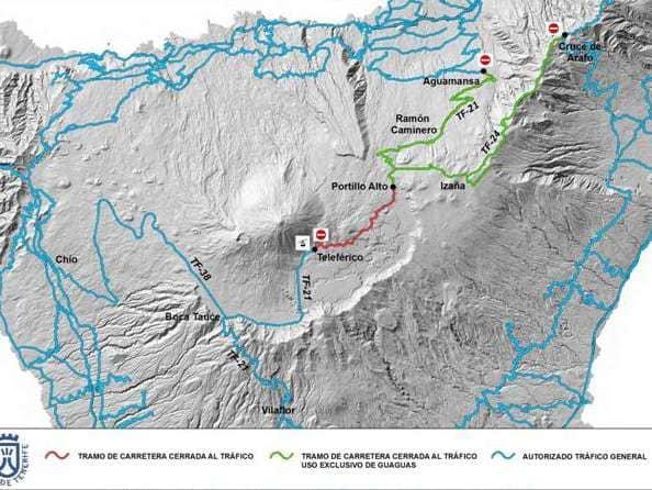 Onda TenerifeActivado el Operativo Nevadas para garantizar la seguridad en los accesos al Teide